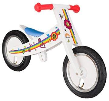 BIKESTAR® Mitwachsendes Kinderlaufrad für sichere und sorgenfreie Spielfreude ab 2 Jahren ★ 12er Natur Holz Edition ★ Traumhaft Weiß -