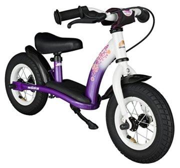 BIKESTAR® Premium Sicherheits-Kinderlaufrad für kleine Abenteurer ab 2 Jahren ★ 10er Classic Edition ★ Candy Lila & Diamant Weiß -