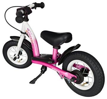 BIKESTAR® Premium Sicherheits-Kinderlaufrad für kleine Abenteurer ab 2 Jahren ★ 10er Classic Edition ★ Flamingo Pink & Diamant Weiß -