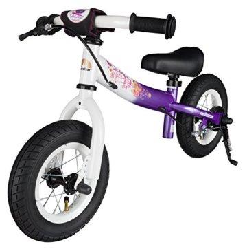 BIKESTAR® Premium Sicherheits-Kinderlaufrad für kleine Abenteurer ab 2 Jahren ★ 10er Sport Edition ★ Candy Lila & Diamant Weiß -