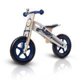 Kinderkraft Runner Laufrad aus Holz mit Tasche und Klingel in 2 Farben (Motorrad) -